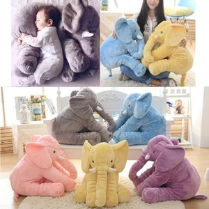 Wholesale 60cm cm Plush Elephant Toy Baby Sleeping Back Cushion Soft Stuffed Pillow Elephant Doll Newborn Playmate Doll Kids Birthday Gift squishy
