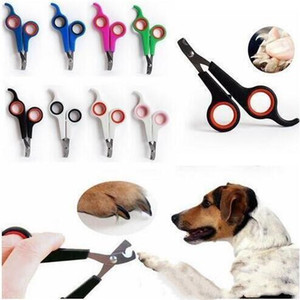 Pet Nail Clipper Pure Color Dog Cat Stainless Steel Nail Care Clipper Silicone Handle Pet Grooming Supplies For Pets Health WY412
