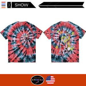 Wholesale Travis Scott Astro World Short Sleeve T shirt Lollipop European Tour Tie dyed Short Sleeve Top T shirt Fashion Men s Cotton T shirt