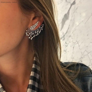 Wholesale statement earrings for sale - Group buy 1 Pc Statement Crystal Stud Earrings Set For Woman Punk Rock Boucle D oreille Vintage Jewelry Dazzling Brincos E0241