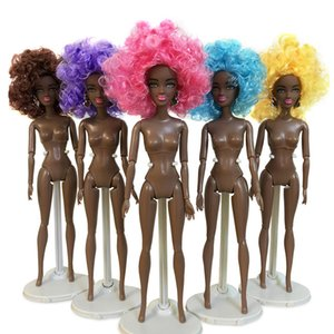 Wholesale Girls Movable Joint African Doll Toy Black Doll Best Gift Baby Dolls Kids Fun Toy Girls Birthday Gifts