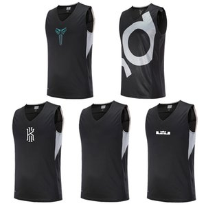 Wholesale Asian Size Basketball Jerseys Ki & Kd & Curry & Kb Breathable Elastic Sports Training Competition Shirts SH190629