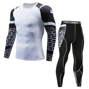 Wholesale Compression Shirt FUTUREOX Personality 3D Printed Flower Arm Long Sleeve Set Fitness Fitness MMA Quick-drying Top Equipment