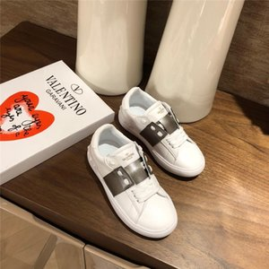 kids shoes classic boys and girls luxury designer sneakers casual shoe Genuine Leather fashion 2019 new kids girls designer casual shoes