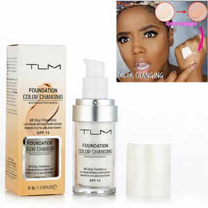 TLM Magic Flawless Colour Changing Foundation Cream 30ML Makeup Change Skin Tone Concealer By Just Blending 6pcs