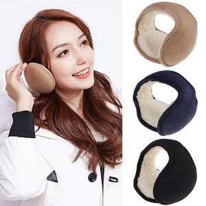 Wholesale 1pc Winter Foldable Ear Muffs Back Wear Ear Warmers Warm Plush Earflap Adjustable Cover for Men Women