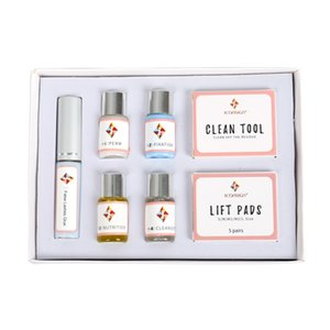 Wholesale ICONSIGN Mini Eyelash Perm Kit lash lift Cilia extension perming Set with Pods Glue Curling and Nutritious Growth Treatments