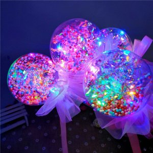 Wholesale Light Up Princess Wand Fairy LED Scepter for Christmas Party ball Magic Heart Stick Flashing Toy KKA7587