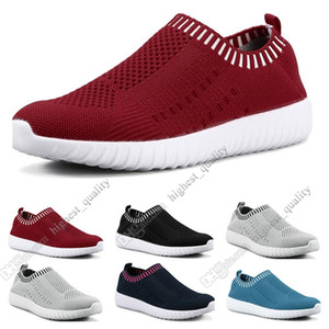 Wholesale Best selling large size women s shoes flying women sneakers one foot breathable lightweight casual sports shoes running shoes Seven