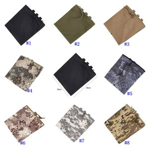Wholesale Tactical Molle Pouch Utility Magazine Drop Dump Pouch Hunting Airsoft Military Gun Ammo Foldable Pocket Belt Waist Pouch MMA2456
