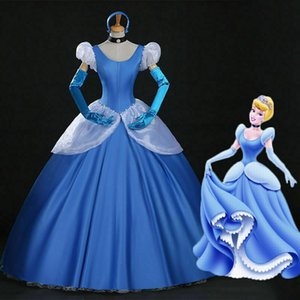 Wholesale Cinderella Adult Costume Cartoon Sandy Princess Cosplay Dress Fancy Ball Gown
