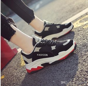 Ins Super Hot Spring Female Korean Edition Dad Sports Shoes Leisure Student Running Shoes Uzzang Board Shoe Muffing Cake