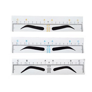 Wholesale Disposable Microblading Eyebrow Ruler Sticker Tattoo Accessories Supplies Permanent Makeup Embroidery Measuring Tool Eyebrow Shaping Stencil