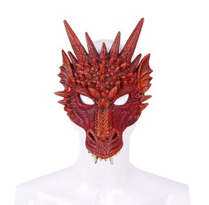 Wholesale Halloween Dragon Mask mardi gras Party PU Foam D Animal Faucet Mask Fancy Dress Party Kids Adult gift toy