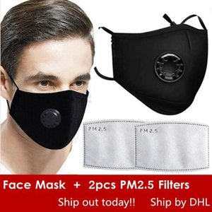 Wholesale DHL Reused Face Masks Anti Dust Smoke Gas and Allergies Adjustable Reusable Protection with PM2 Filters for Women Man