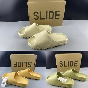 FX0494 Kanye Slide Bone Resin Big Kids Youth Men Women Junior DESERT SAND Casual Sports Beach Slippers