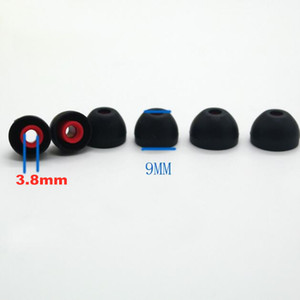 Wholesale 100pcs pairs mm SML Dual color Ear pads cushion for SONY for headphone soft Silicone In Ear Earphone Covers Earbud Tips Ear buds