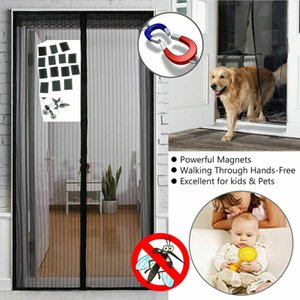 Wholesale 2019 Brand New Style New Fashion Mesh Door Magic Curtain Magnetic Snap Fly Bug Insect Mosquito Screen Net