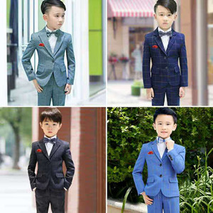 Children's Suit Set Three-Piece Male flower girl Dress Small Boy Handsome Suit 61 Piano Performance Suit on Sale