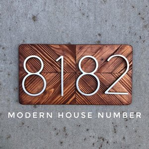 Wholesale 127mm Big Huisnummer Hotel Home Door Number Outdoor Address Numbers For House Numeros Puerta De La Casa Hausnummer Q190611