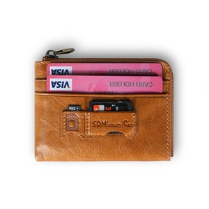 RFID anti-theft brush coin purse leather retro multi-function bank SD card coin bag portable bulk wallet on Sale