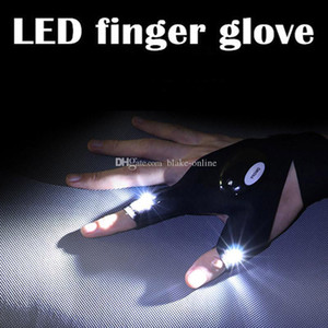 Wholesale Auto Repair Finger Glove Night Car Motorcycle Repair Tools Work Outdoors Fishing Survival Tool Creative Hiking LED Lighting Gloves