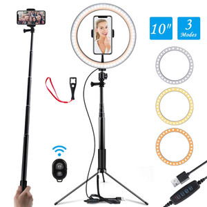 "Wholesale Ring Light 10"" Selfie Light Ring with Adjustable Bracket Remote Control 120 Bulbs Ringlight for YouTube"