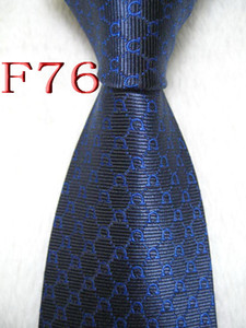 F76 #100%Silk Jacquard Woven Handmade Men's Tie Necktie