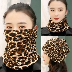 Women's autumn and winter bib scarf cap thermal protection neck mask knitted thick riding mask headscarf student neck cover