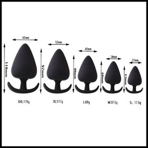 EPACK 5Types Soft Silicone Anal Unisex Black Silicon Butt Plug Trainer Anal Sex Toy Adult Sex Product Erotic Sexy G-spot Masturbation