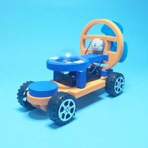 Wholesale race manual for sale - Group buy Electric car DIY science technology to make small inventions racing manual materials puzzle science experimental toys