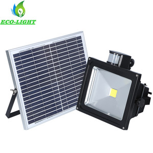 Wholesale Outdoor Lighting IP65 PIR Sensor Solar Rechargeable LED Floodlight W