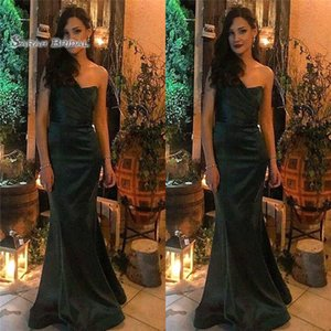 2019 Floor Length Black One Shoulder Satin Sleeveless High End Quality Evening Prom Party Dress Hot Sales on Sale