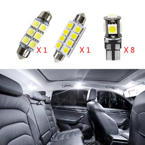 luzes interiores do carro venda por atacado-10pcs sem erro Canbus Car Lâmpadas LED Interior Package Kit para Volvo S60 Sedan Mapa Dome Tronco Glove Box Lamp Branco
