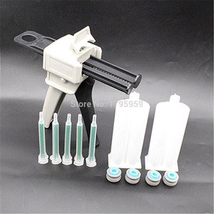 Wholesale glue gun set for sale - Group buy 50ml Two Component AB Glue Dispensing Gun Hand Tools Dispenser with set ml Empty Dual Barrel Cartridge and pc AB Mixed Tube