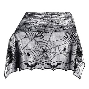 Wholesale Halloween Tablecolth Lace Black Spider Web Halloween Decoration For Home Halloween Party Decoration Rectangle Tablecloth quot x96 quot EEA267