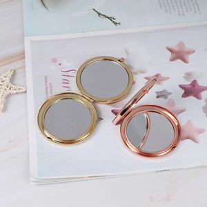 1PC Fashion Women Ladies Make Up Mirror Cosmetic Folding Portable Compact Pocket With Makeup Tool 3 Colors