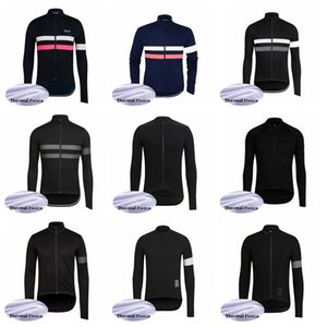 Wholesale Rapha team 2019 cycling jersey top Jacket Winter Thermal Fleece wear bike Bicycle clothes 60921