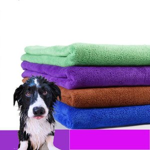 Wholesale Dog Towel Superfine fiber Cat Dog Drying Towels Solid Color Pet Bath Towels Multipurpose Cleaning Cloth Pet Grooming Supplies CLS393