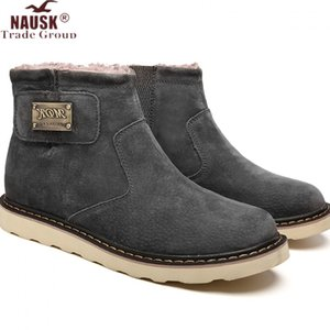Wholesale Genuine Leather boots Men Tooling Boots Work Shoes Classic Ankle Nubuck leather Men Winter