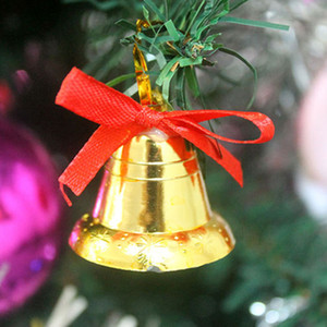 Wholesale Merry Christmas cm Golden bell pendant Christmas tree decoration Christmas party supplies