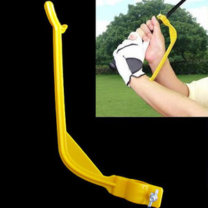 Wholesale 1Pc Golf Swing Trainer Beginner Practical Practicing Guide Gesture Alignment Training Aid Aids Correct Swing Trainer Dropship