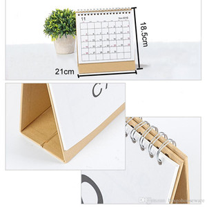 Wholesale White Stand Simple cm Calendar Writable Weekly Planner Monthly List Plan Daily Calendar Desktop Creative Office BH0645 TQQ