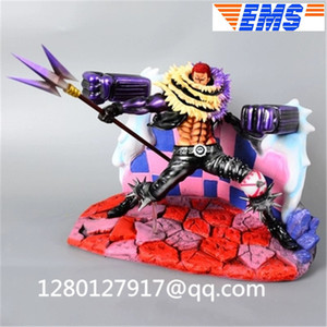 Statue ONE PIECE Charlotte Katakuri Full-Length Portrait Dessert Three Star Plating Repainting Action Figure Toy BOX P1300