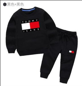 Wholesale Classic Luxury Logo Designer Baby t-shirt Pants coat jacekt hoodle sweater olde Suit Kids fashion Children's 2pcs Cotton Clothing Sets GA218