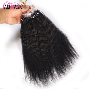 Wholesale New Product Kinky Curly Micro Loop Hair Extension Micro Ring Remy Human Hair inch g g strands Ali Magic Factory Outlet Cheap
