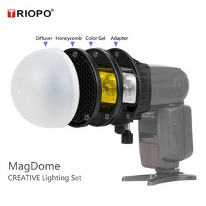 Wholesale Triopo MagDome Flash Lightsphere Diffuser Honeycomb Magnetic Gel Band Omnibounce for Speedlight Godox Canon Nikon