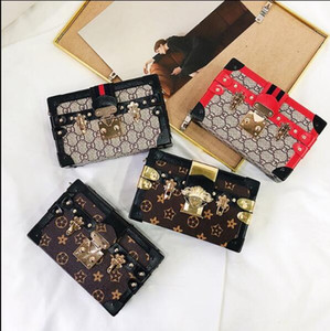 Wholesale European and American Fashion Box Cosmetic Bag New Classic High Quality Old Flower Retro Small Square Bag Single Shoulder Slant Women s