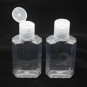 60ml Empty Hand Sanitizer Gel Bottle Hand Soap Liquid Bottle Clear Squeezed Pet Sub Travel Bottle