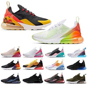 Wholesale Big Size Eur Air Cushion Running Shoes White Black Gradient SE Floral Be True Mens Sports Sneakers Women Trainers US
